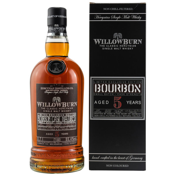WillowBurn - Limited Exclusive Edition - Bourbon Cask Matured 5 Jahre CS